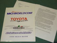 ARCIERO WELLS MCI WORLDCOM TOYOTA Indycar 1999 Christiano DaMatta Press Kit